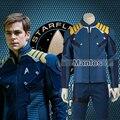 Star trek más allá de capitán kirk traje cosplay adulto hombres comandante kirk batalla sarga traje de superhéroe halloween navidad masculina