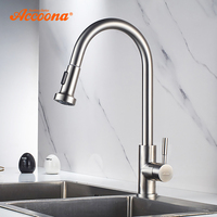 Accoona Kitchen Faucet Single Handle Pull Out Kitchen Tap Swivel Stainless Steel 360 Degree Water Mixer Tap Mixer Tap A5490 1