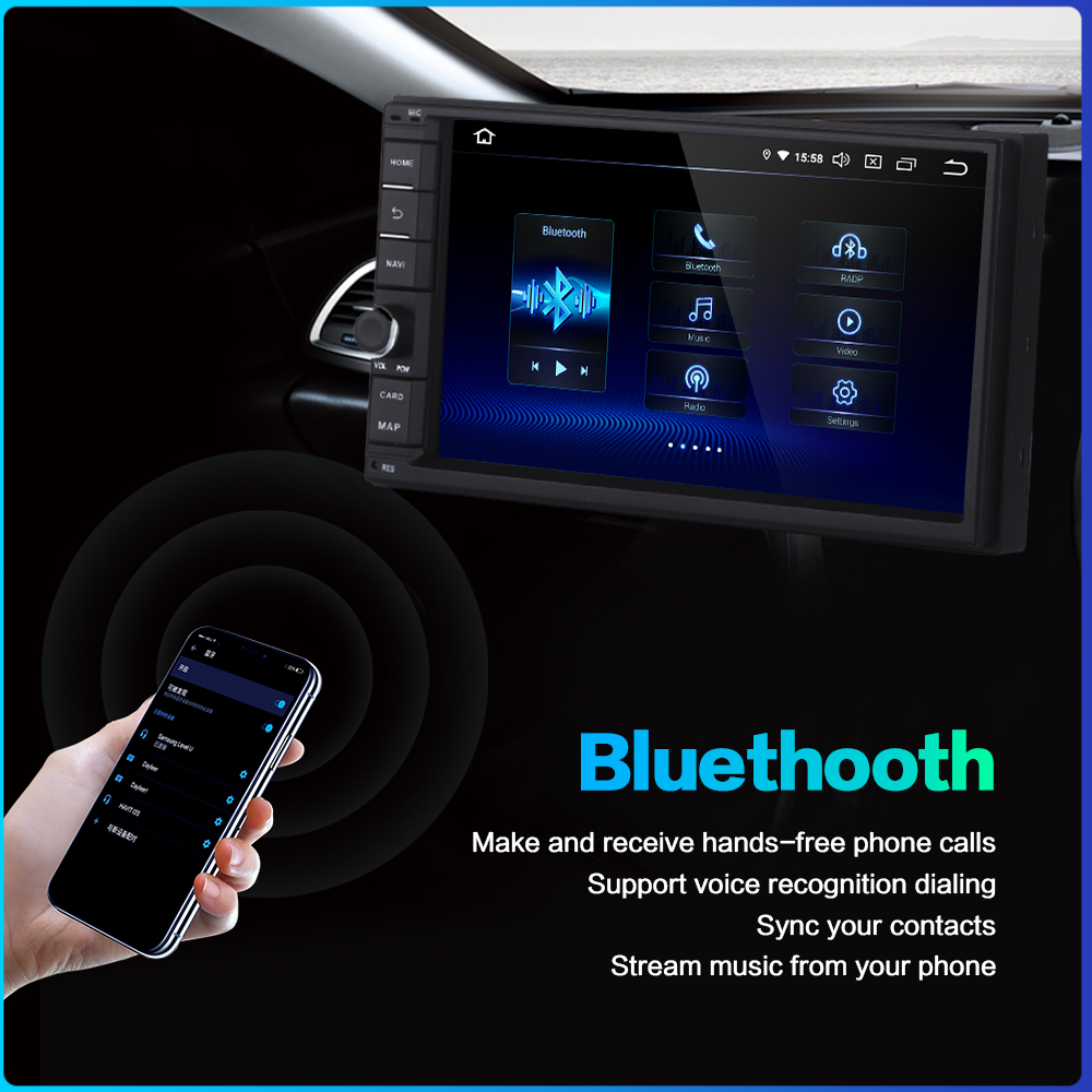 """Image 4 - Dasaita Android Universal Car 2 Din Radio 7"""" IPS Screen Android 9.0 Stereo Multimedia Navigation for Nissan Built in DSP-in Car Multimedia Player from Automobiles & Motorcycles"""