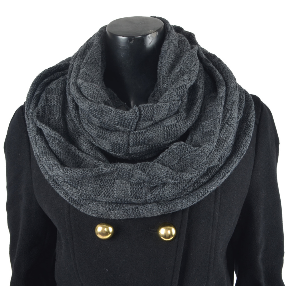 infinity textile scarf guys mens nomad circle cowl loop for black men him link i