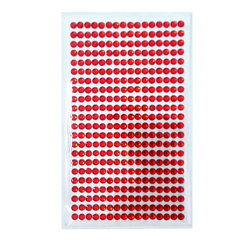 Mode Stijl 5mm Acryl Crystal Strip Stickers Rode Strass Zelfklevende Bruiloft Haar Decoratie Muur Meubels Decoratie Platte Sticke