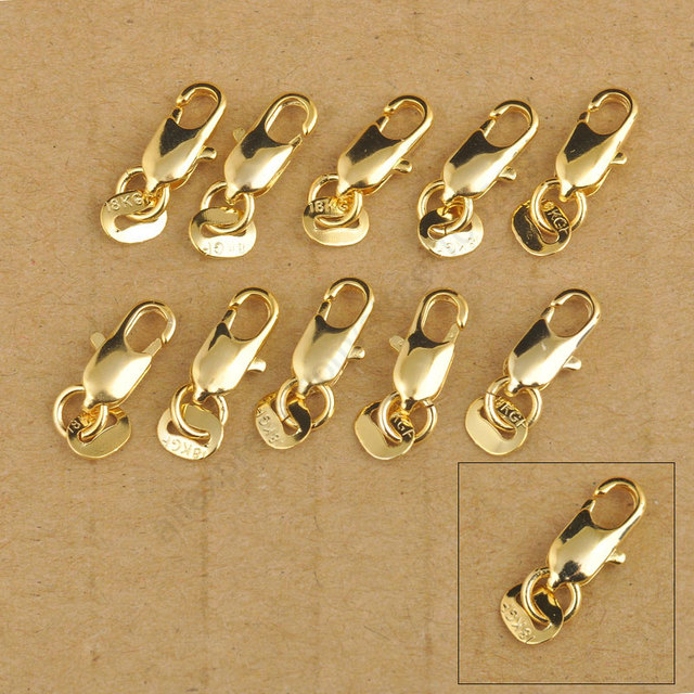 185223a1b 24Hours Free Shipping 20Pcs 18K Yellow Gold Filled Lobster Clasp GF  Connecter Lin Jewelry Necklace Bracelet 18KGF Stamped Tag-in Jewelry  Findings ...