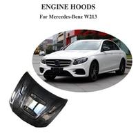 For Benz W213 E250 E350 E43 E63 AMG 2016 2017 2018 Auto Engine Hood Bonnet Cap Cover Carbon Fiber