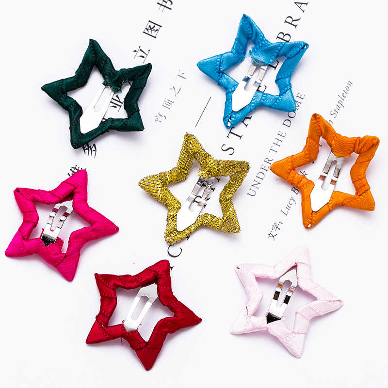 065859cbf92 ... 2PCS Lot Cute Girls Candy Colors Star Safety HairPins Children  Hairgrips Baby Hair Clips Headband ...