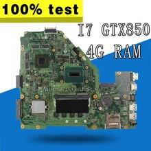 X550JK материнская плата I7 Процессор GTX850 для ASUS X550JD X550JK FX50J A550J X550J Материнская плата ноутбука X550JK материнская плата X550JK материнская плата