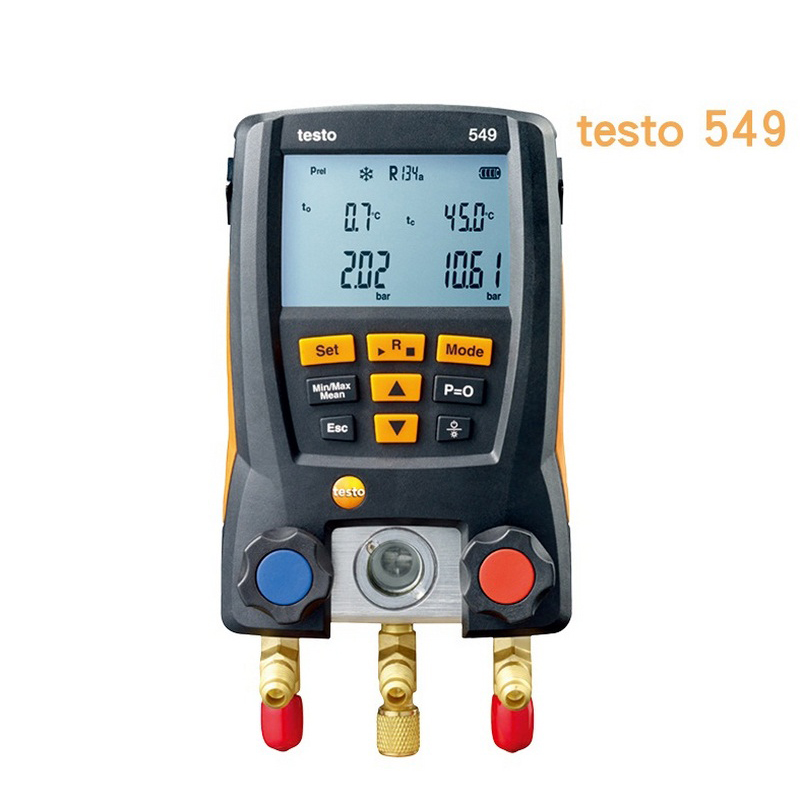 Testo 549 Pressure Gauge Refrigeration Digital Manifold HVAC Gauge System Kit Meter 0560 0550 LCD Digital