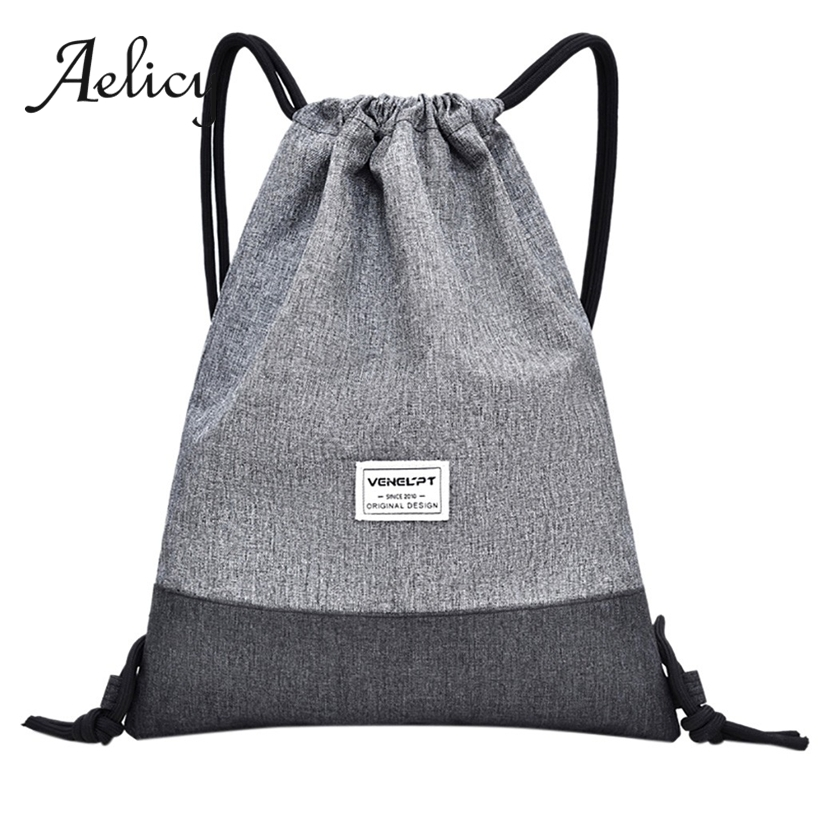 Aelicy Drawstring Backpack Rucksack Shoulder-Bag Sport-Rope Travel Fitness High-Quality