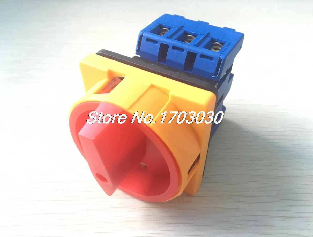 AC 600V 40A 2 Position 3 Phase Panel Rotary Selector Changeover Switch 660v ui 10a ith 8 terminals rotary cam universal changeover combination switch