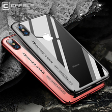 CAFELE Original Phone Case For iPhone X Fashion Plating Hard Transparent Back Cover Apple iphone Cases Anti Scratch