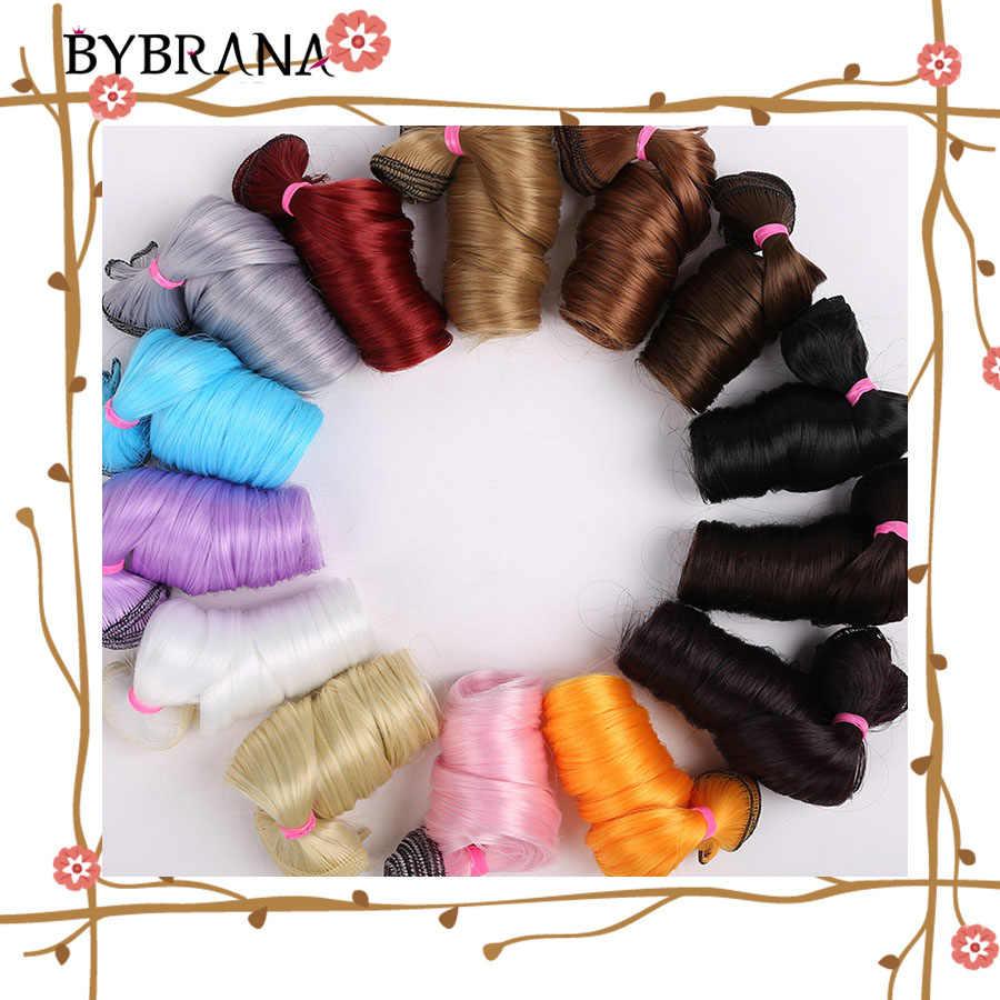 Bybrana длинные вьющиеся волосы 30 см * 100 см 15 см * 100 см bjd DIY парик для кукол бесплатная доставка