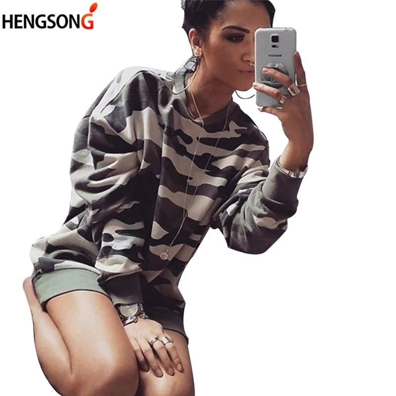 Casual Autumn Pullovers Camouflage Hoodies For Women 2018 Fashion O-Neck Long Sleeve Sweatshirt Sudaderas Women Hoody
