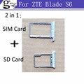 Оригинал для ZTE Blade S6 Лоток Sim-карты + Micro SD Карты Держатель Лотка Слот Разъем Адаптера Замена Запчастей серебро