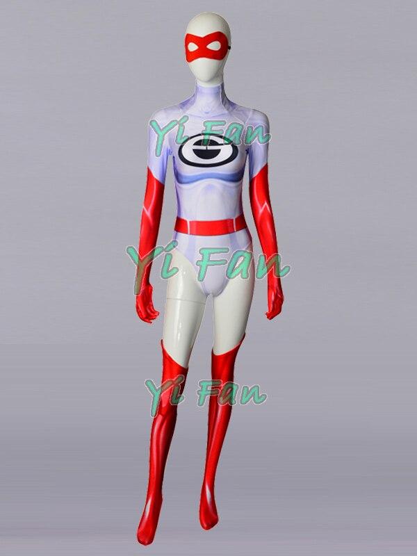 Hot Sale The Incredibles 2 Elastigirl Superhero Costume Spandex 3D Print Halloween Cosplay Zentai Suit Custom Made