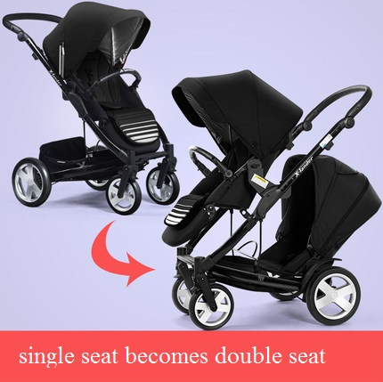 Luxury baby stroller with carrycot,pram set 2 in 1 baby stroller,trolley baby car child folding cart bassinet light