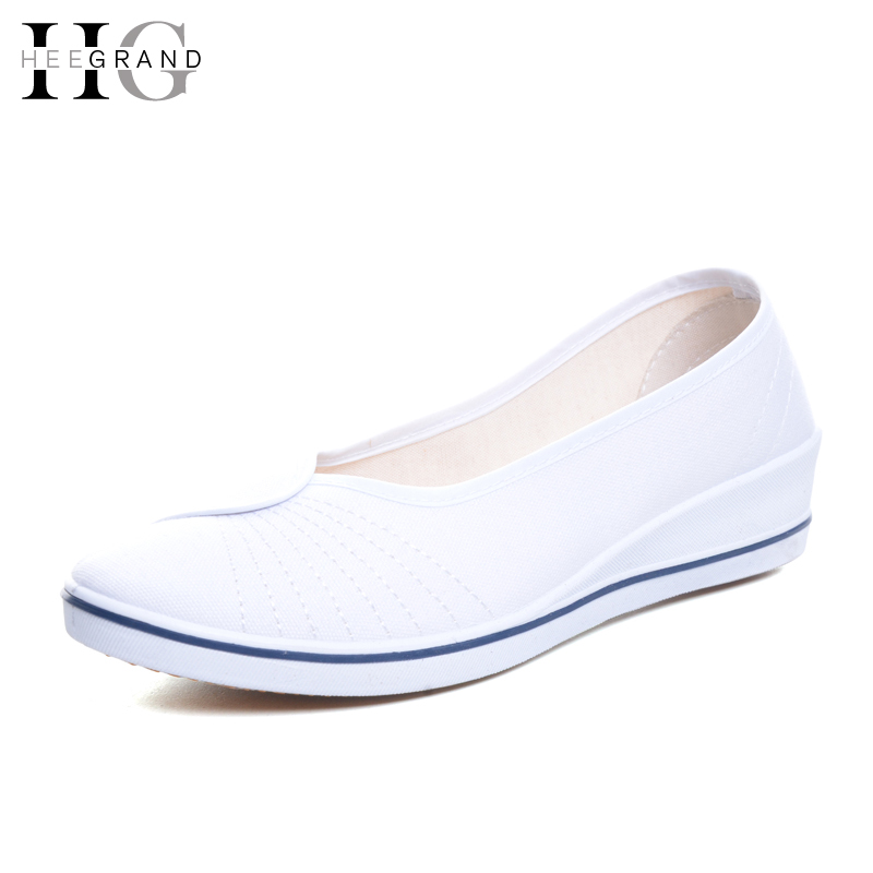 купить HEE GRANDWomen Work Shoes Slip On Wedge Platform EspadrilleSapatos Femininos Zapatos Mujer XWD3268 по цене 635.15 рублей