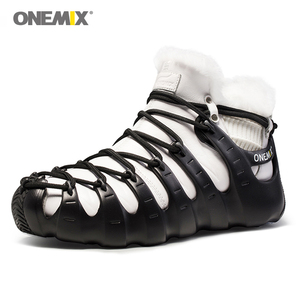Image 2 - Hot Onemix Winter Mens Trekking Shoes Anti Slip Walking Shoes Comfortable Warm Outdoor Sneakers For Women Winter Keeping Shoes