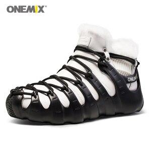 Image 2 - حار Onemix الشتاء الرجال حذاء ارتحال مكافحة زلة أحذية مشي مريحة الدافئة في الهواء الطلق أحذية رياضية للنساء الشتاء حفظ الأحذية