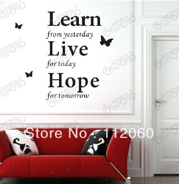 Free Shipping House Decoration Romantic Words Wall Stickers Wall ...
