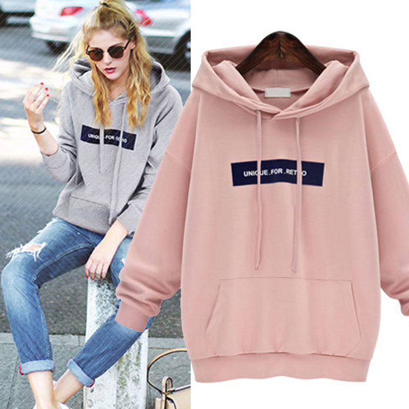 Factory Sales Hoodies Sweatshirt Women New Spring Autumn Velvet Letter  Embroidery Bat Long Sleeve Casual Loose Sudaderas mujer-in Hoodies    Sweatshirts from ... 252687a07c6dc