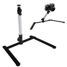 Регулируемый Камера штатив Настольный Стенд Mini монопод Алюминий сплав 1/4 винт Поддержка для DSLR цифровой Камера видеокамера