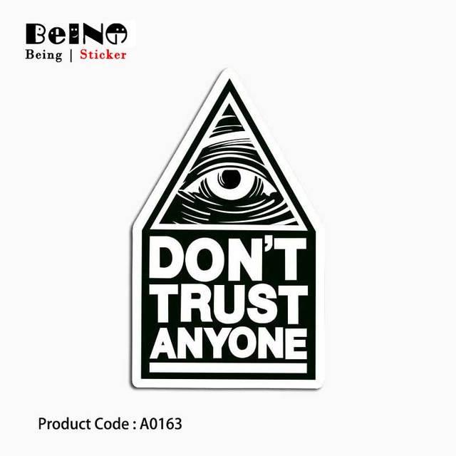 לא סומך מדבקה שחור עין מגניב עמיד למים ניידים מזוודת גיטרה מטען סקייטבורד אופניים צעצוע יפה A0163 מדבקות