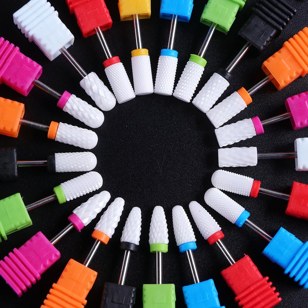 1pcs Ceramic Nail Drill Bit Milling Cutter Pedicure Tools Electric Clean Manicure Machine Nail Art Accessories Tools JILL01-28