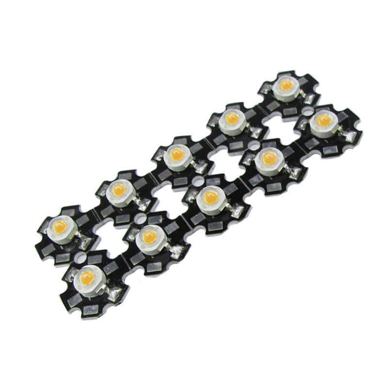 10pcs 1W 3W High Power LED Beads Full Spectrum White Warm White Green Blue Deep Red 660nm Royal Blue With 20mm Black Star PCB
