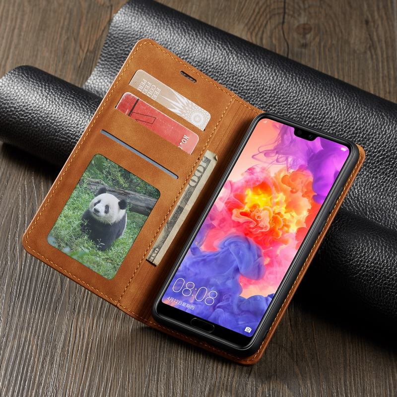 Magnetic Flip Wallet Leather Huawei Case