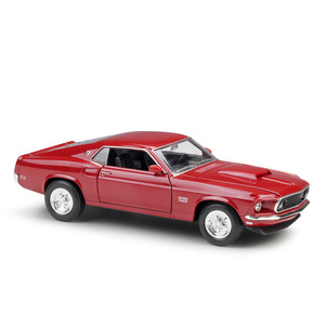 Image 5 - Welly 1:24 다이 캐스트 시뮬레이션 합금 모델 자동차 1969 포드 머스탱 보스 429 자동차 장난감 금속 장난감 자동차 어린이 장난감 선물 컬렉션