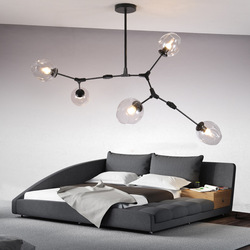 Vintage Multi Hoofd E27 Plafondlamp Creatieve Moleculaire Stijl Glazen Plafond Lamp Voor Woonkamer Thuis Decro Appartement Cafe Bar
