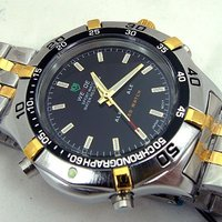 Mens Quartz Watch Sport Style Stainless Steel Chrono Cool
