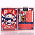 1pcs Bicycle Escape Map Deck Ellusionist Magic Cards Playing Card Poker Close Up Stage Magic Tricks for Professional Magician