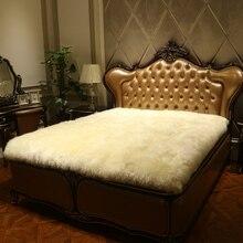 Натуральная чистая шерсть матрас мех цельная овчина кровать флис утолщение мех Одеяло Покрывало шерстяное односпальное постельное белье набор