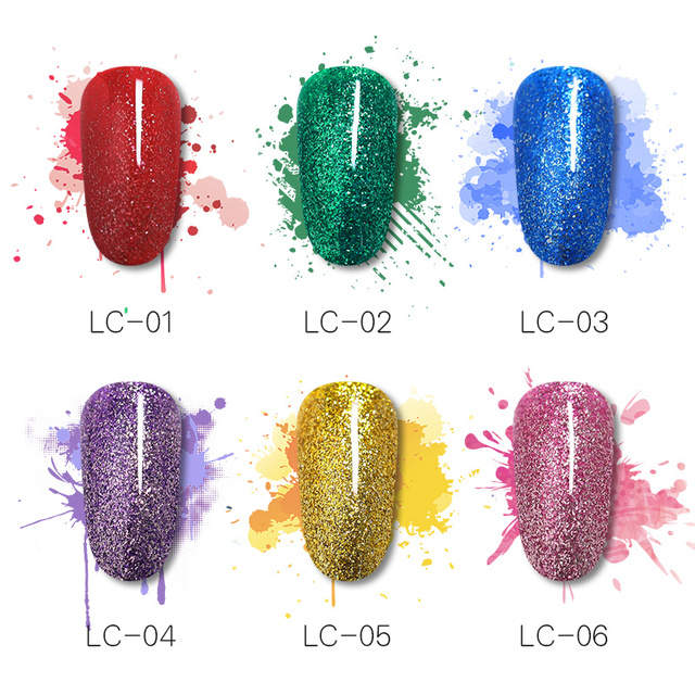 LILYCUTE 8ml Metallic Glitter Gel Nail