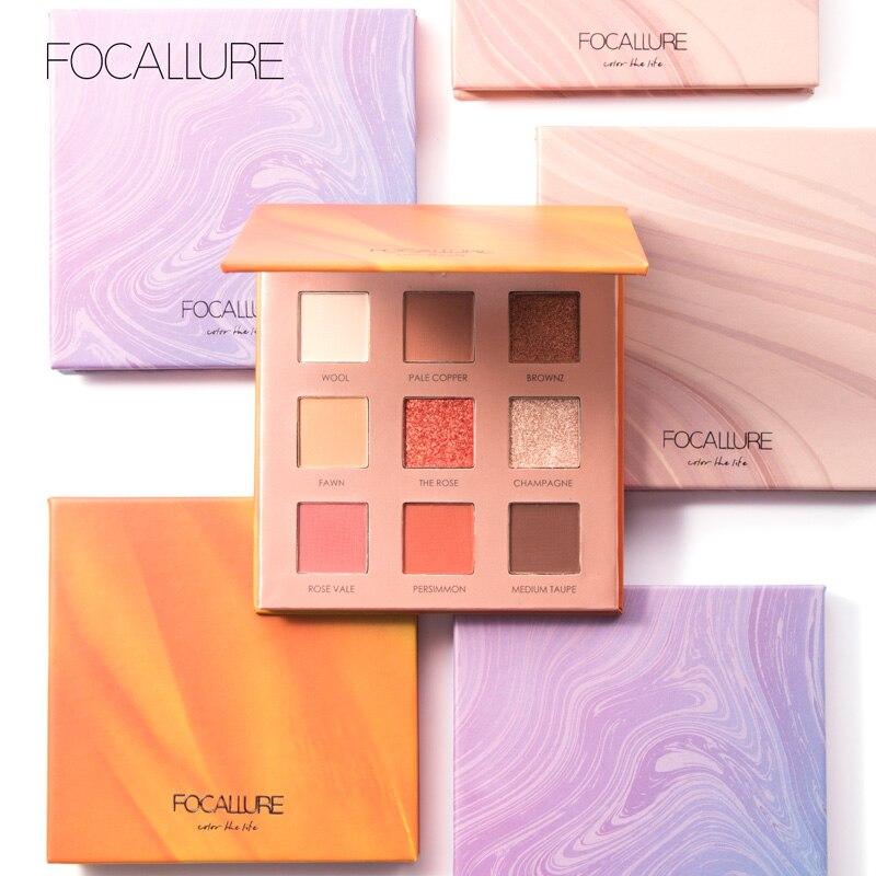FOCALLURE Neueste Glitter Lidschatten-palette Hohe Pigment Natürliche Eye Make-Up Matte Lidschatten-palette Kosmetik