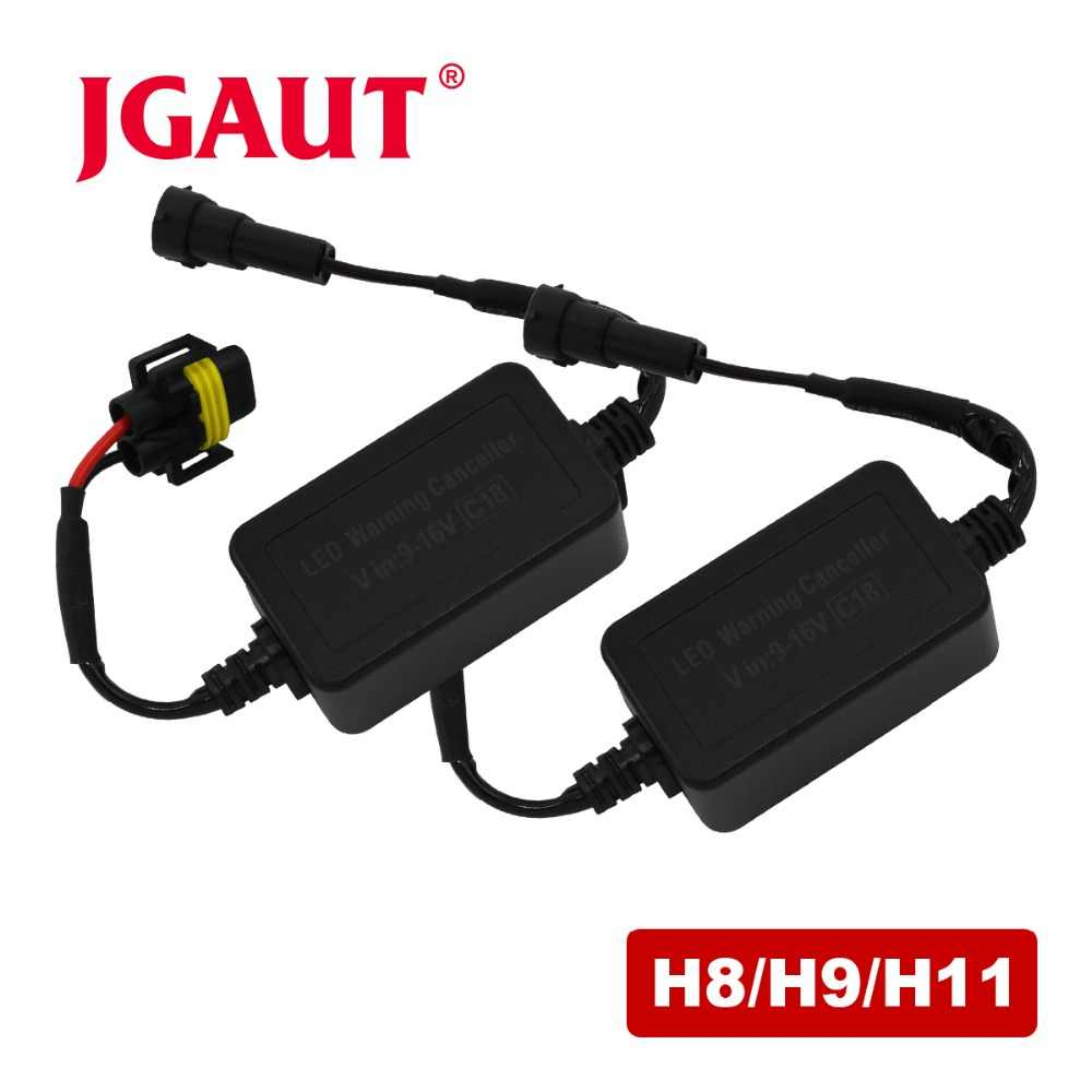 JGAUT C18 H4 H7 H8 H11 H13 HB3(9005) 9006 Decoder Canbus Wiring Harness Adapter LED Car Headlight Bulb Auto Headlamp Fog Light