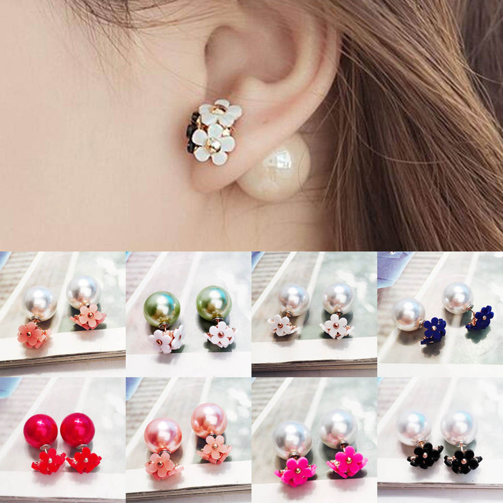 MESTIGE Carissa Earrings with Swarovski Crystals Gifts Women Girls Pearl Drop Dangle Hook Silver