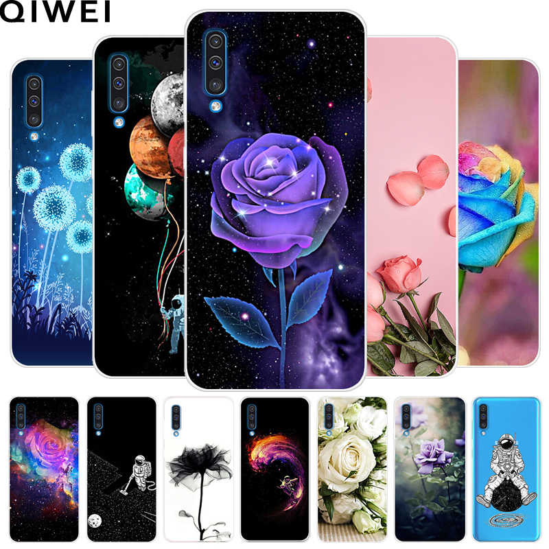 For Samsung A50 Case 2019 Clear Soft TPU Flowers Silicone Cover For Samsung Galaxy A30 A50 A 50 A505 Phone Cases A 30 A305 A305F