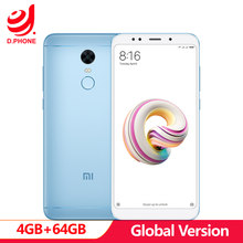 Original Xiaomi Redmi 5 Plus Global version MIUI 9 Snapdragon 625 4G TD LTE Cell Phone 4GB RAM 64GB ROM 12.0MP OTA fingerprint(Hong Kong,China)