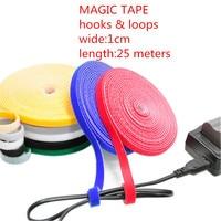 1PCS LOT YT1883 Magic Tape Strap Cable Tie Wide 1 Cm Length 25 Meters Nylon Strap