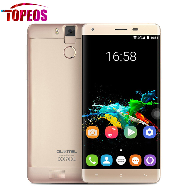 "Original OUKITEL K6000 PRO Cell Phone 6000mah 5.5"" FHD Android 6.0 MTK6753 Octa Core 4G LTE 13.0MP 3GB RAM+32GB ROM Fingerprint"