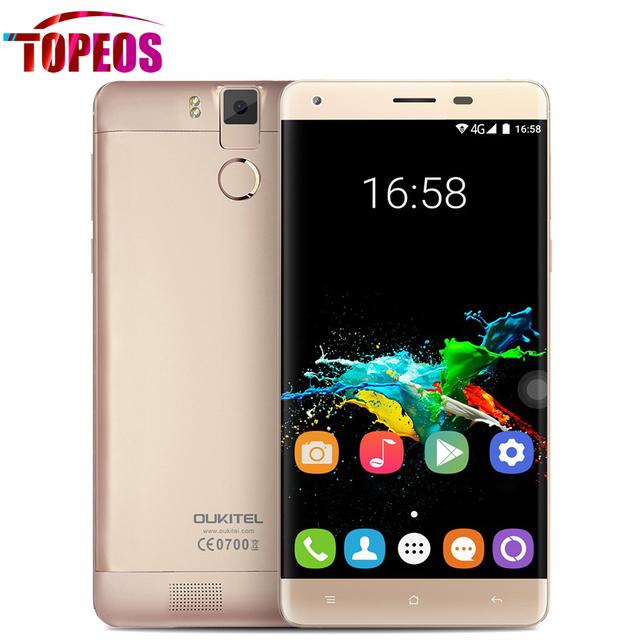 "Original k6000 oukitel pro teléfono celular 6000 mah 5.5 ""FHD Android 6.0 Octa Core 4G LTE MTK6753 13.0MP 3 GB RAM + 32 GB ROM de la Huella Digital"