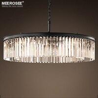 Круглая форма хрустальная люстра освещение люстры светильники подвесной светильник для ресторана Кристалл американский стиль лампы