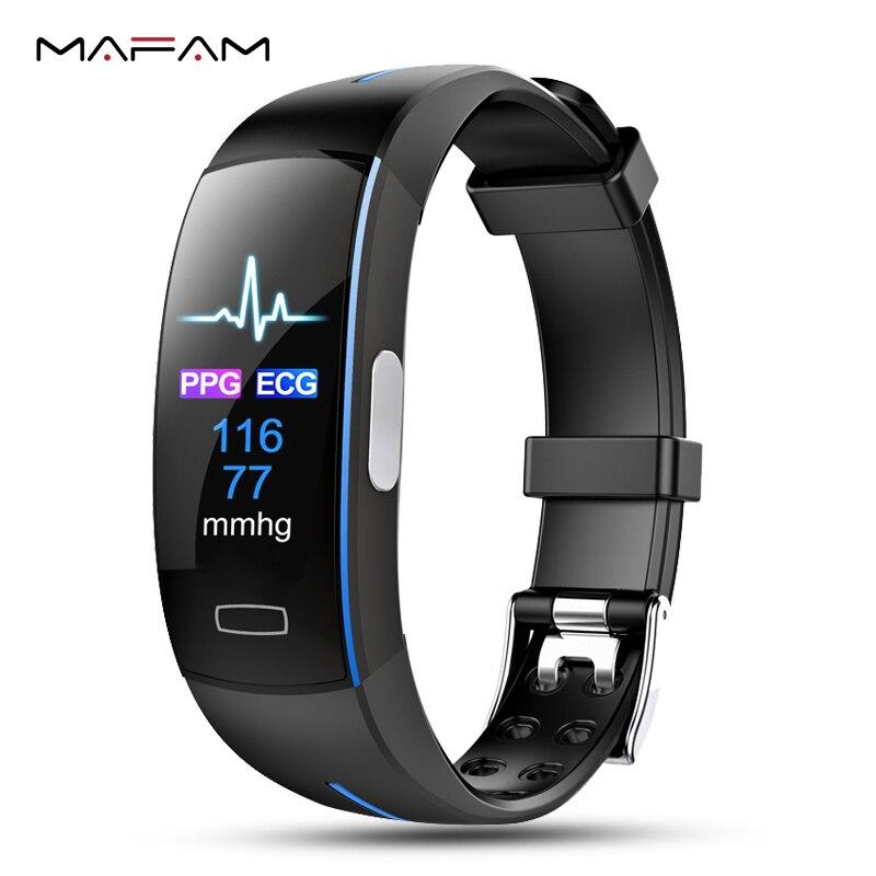 PPG MAFAM Relógio Inteligente ECG Freqüência Cardíaca Pressão Arterial Pulseira Esporte Relógio Inteligente Bluetooth Relógio Para iphone xiaomi Relógio de Fitness