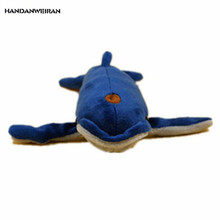 HANDANWEIRAN 1Pcs New Kawaii 20CM Cute Flat Whale Stuffed Toys Marine Series Pendants Plush Toy Dolls For Kids Gifts PP Cotton