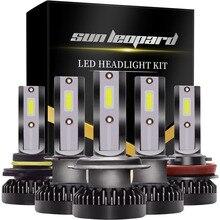 цена на 2PCS H7 LED 12000LM/PAIR Mini Car Headlight Bulbs H4 LED H1 H8 H9 H11 Headlamps Kit 9005 HB3 9006 HB4 Auto LED COB Lamps Beads