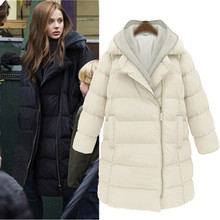 Plus size S-6XL fat big size women lady clothing winter thermal warm white duck down coat thick knitted hooded outerwear WC1659
