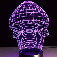 7 Colors Creative Mushroom Lamp 3D Night Light LED Table Desk Lampara Home Decor Bedroom Reading