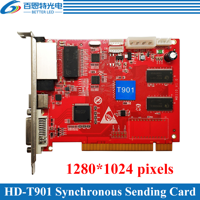 Synchronous Full Color LED Display Sending Card HD-T901 work with HD-R501Synchronous Full Color LED Display Sending Card HD-T901 work with HD-R501