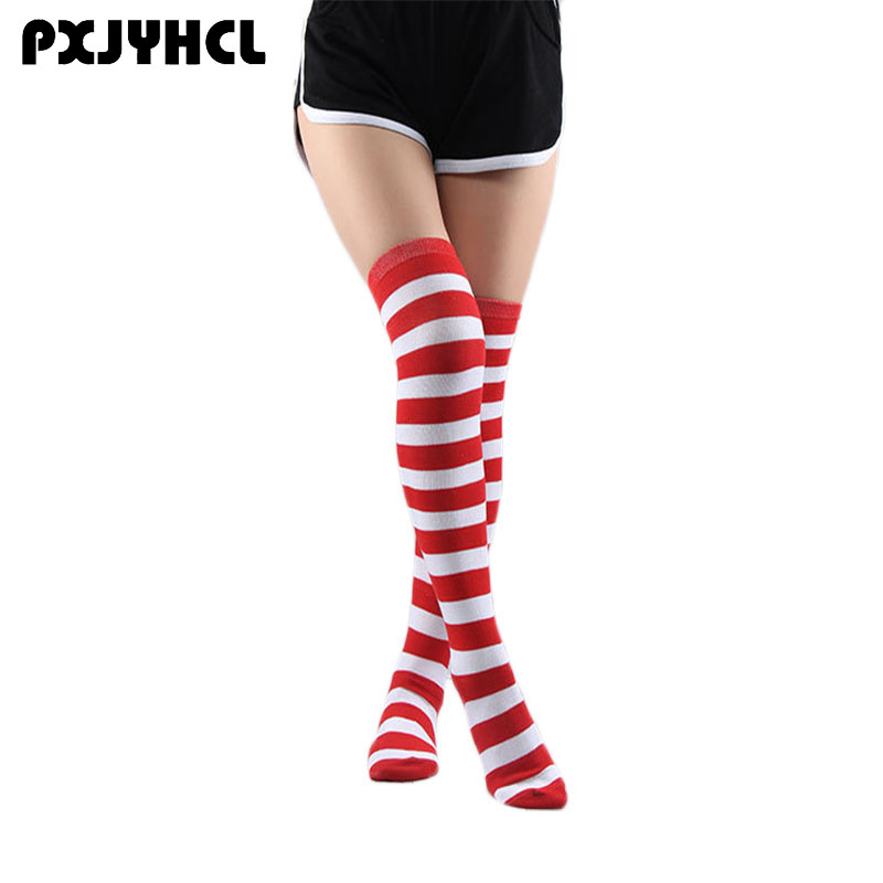 Halloween Lovely Student Anime Cosplay Strip Long Stocking For Girl Thigh High Over Kneel Sock Sexy Women Warm Onesize Stockings